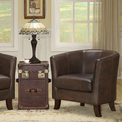 Bristol Dark Brown Vintage Leather Club Chair