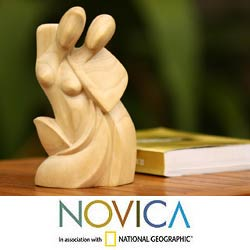 'Family Love' Wood Statuette (Indonesia)