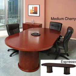 Mayline Mira 10-foot Oval Conference Table with Column Base