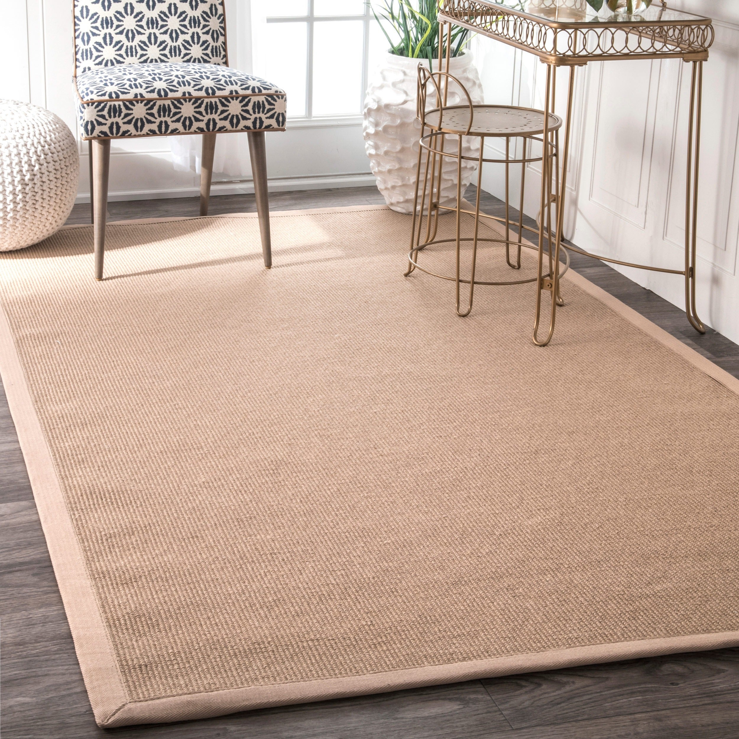 nuLOOM Handmade Alexa Eco Natural Fiber Cotton Border Jute Rug (5' x 8') at Sears.com