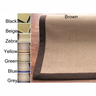 Handmade Alexa Eco Natural Fiber Cotton Border Jute Rug (8' x 10')