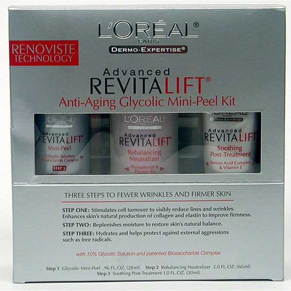 Dermo-expertise Anti-aging Glycolic Mini-peel Kit (Pack of 3)