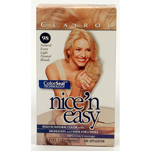 Nice 'n Easy # 98 Extra Light Neutral Blonde Hair Color (Pack of 4)