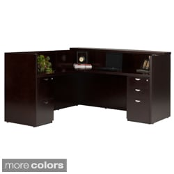 Mayline Mira Wood Veneer Reception Station with Return