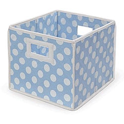 Blue Polka Dot Folding Storage Baskets (Pack of 3)