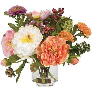Silk Peony Flower Arrangement