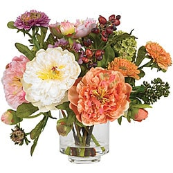 Silk Peony Flower Arrangement