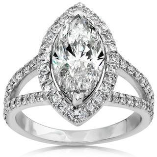 18k Gold 3 1/3ct TDW Diamond Engagement Ring (H-I, SI1-SI2)