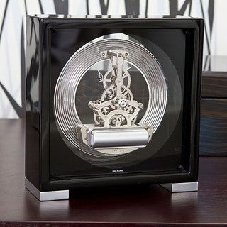 Seth Thomas Galileo Black Metal Mantel Clock