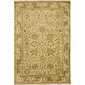 Set of Two Hand-knotted Beige Wool Rugs (2' x 3')