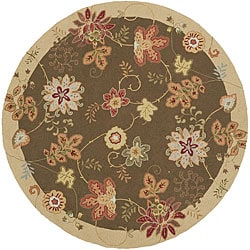 Hand-hooked Carnation Wool Rug (6' Round)