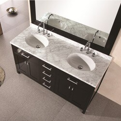 Design Element Solid Wood 61-inch Double-sink Bathroom Vanity Set
