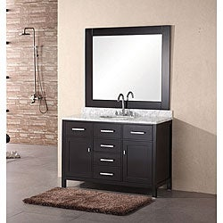 Design Element 48-inch Newport Modern Bathroom Vanity Set with Mirror