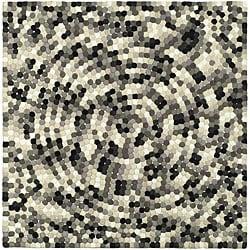Safavieh Handmade Soho Mosaic Black New Zealand Wool Rug (6' Square)