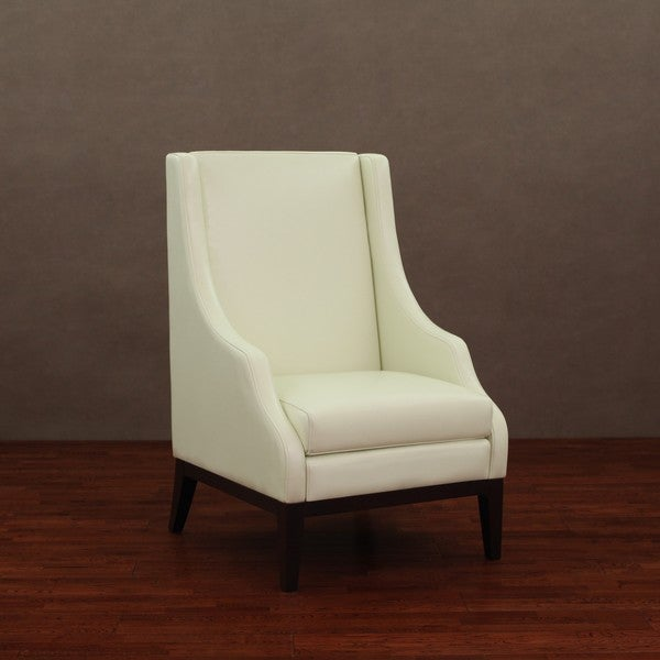 Lummi Ivory Leather High-back Chair