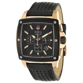 Bulova Men's 98B103 Marine Star Rose Goldtone Watch
