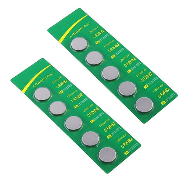 INSTEN CR-2032 5-piece Coin Cell Battery Packs (Set of 2)