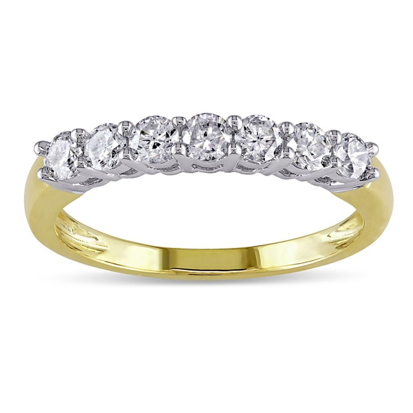 Miadora 14k Gold 1/2ct TDW Round Diamond Wedding Ring (G-H, I1-I2)