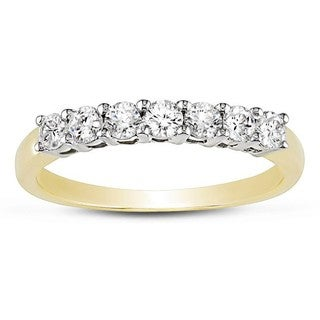 Miadora 14k Gold 1/2ct TDW Round Diamond Wedding Ring (I-J, I1-I2)