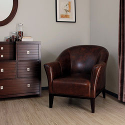 Tivoli Mahogany Leather Arm Chair