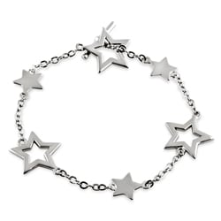 Tressa Sterling Silver 7-inch Star Toggle Bracelet