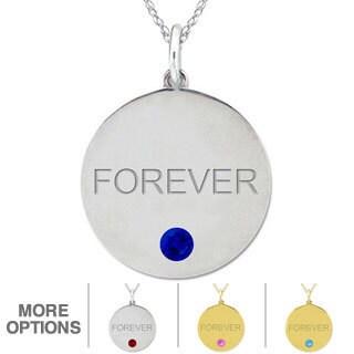 10k Gold Birthstone 'Forever' Designer Necklace
