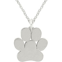 10k Gold Petite Paw Print Designer Necklace