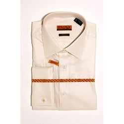 Enzo Tovare Men's Beige Dress Shirt