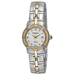 Raymond Weil Women's 9440-STG-97081 Parsifal Diamond Accented 18k Gold-Plated Watch