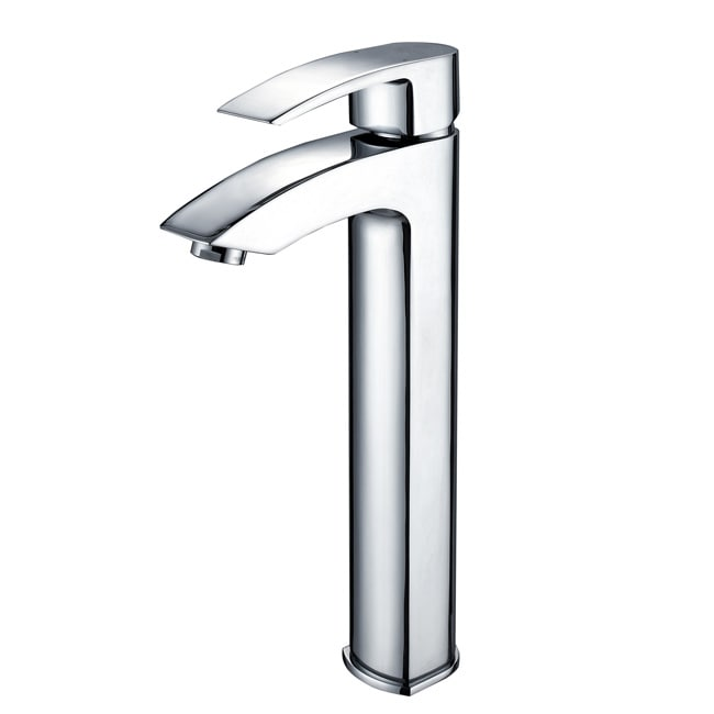 Kraus Visio Chrome Bathroom Vessel Sink Faucet - 12433979 - Overstock ...