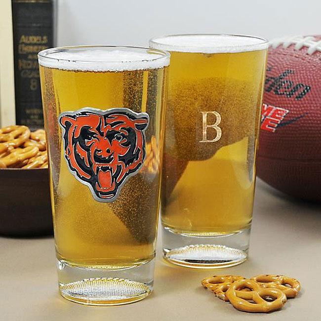 Bears NFL Pint Glasses (Set of 2)