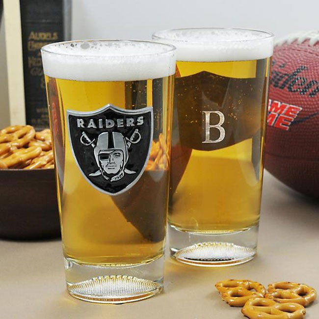 Raiders NFL Pint Glasses (Set of 2)