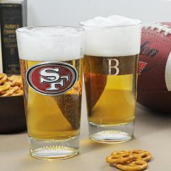 Giants NFL Pint Glasses (Set of 2)