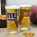 Giants NFL Pint Glasses (Set of 2)