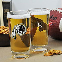 Redskins NFL Pint Glasses (Set of 2)