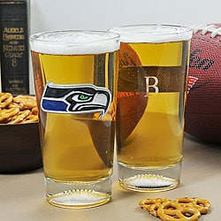 Seahawks NFL Pint Glasses (Set of 2)