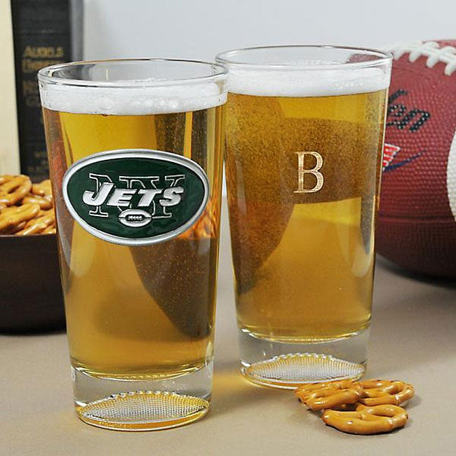 Jets NFL Pint Glasses (Set of 2)