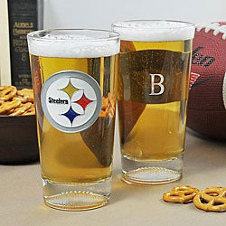 Steelers NFL Pint Glasses (Set of 2)
