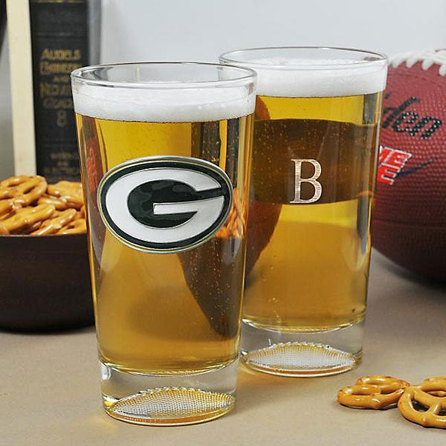 Packers NFL Pint Glasses (Set of 2)