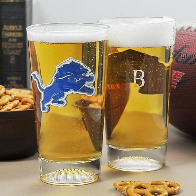 Lions NFL Pint Glasses (Set of 2)