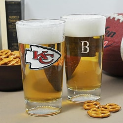 Chiefs NFL Pint Glasses (Set of 2)
