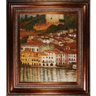 Gustav Klimt 'Malcesine on Lake Garda' Framed Art