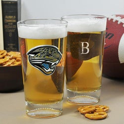 Jaguars NFL Pint Glasses (Set of 2)