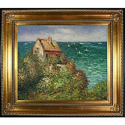 Claude Monet 'Fisherman's Cottage' Framed Art