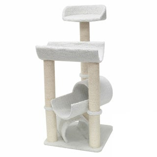 Majestic 44-inch Casita Cat Faux Sherpa Furniture Tree