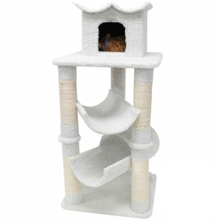 Majestic 47-inch Casita Cat Faux Sherpa Furniture Tree