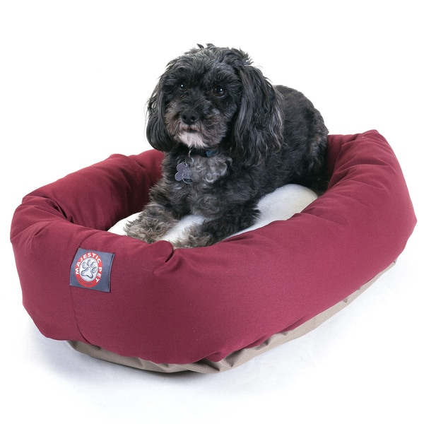 Majestic Pet Bagel-style Burgundy 24-inch Dog Bed