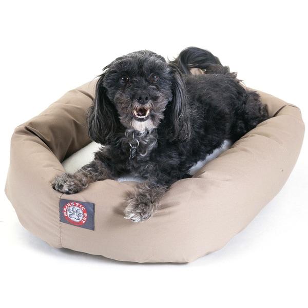 Majestic Pet Bagel-style Khaki 24-inch Dog Bed