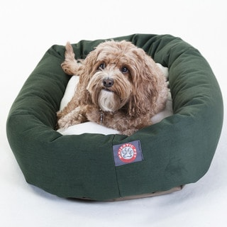 Majestic Pet Bagel-style Green 32-inch Dog Bed