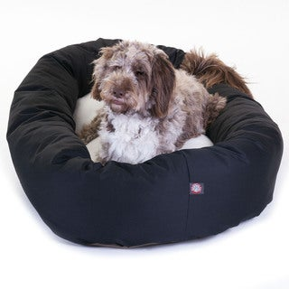 Majestic Pet Bagel-style Comfortable 52-inch Dog Bed in Black
